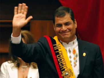 Könnte für eine neue Amtszeit kandidieren: Ecuadors Präsident Correa