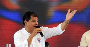 """Ecuadors Präsident Rafael Correa bei """"Enlace Ciudadano"""" am Samstag"""