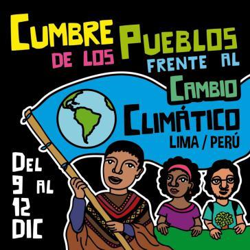"Plakat zum ""Gipfel der Völker"" in Lima"