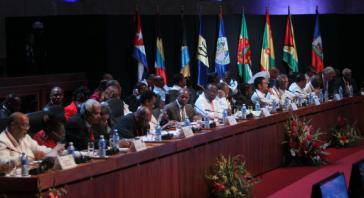 "Teilnehmer am fünften Gipfel ""CARICOM-Kuba"" in Havanna"