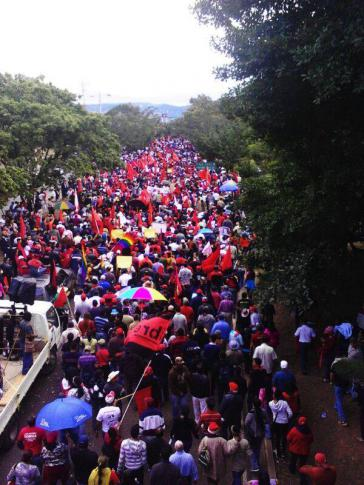 Proteste von LIBRE-Anhängern in Honduras vor einigen Monaten
