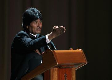Evo Morales bei seiner Ansprache in Havanna
