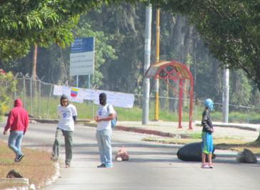 Straßenblockade in Mérida