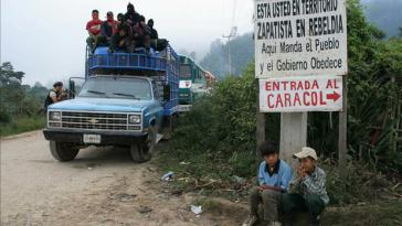 """Grenze zu EZLN-Gebiet: """"Hier regiert das Volk und die Regierung gehorcht."""""""