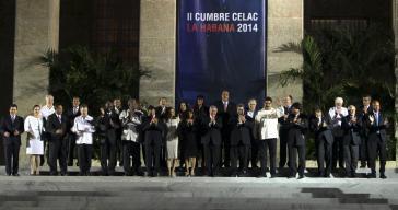 Die Regierungsvertreter der 33 Celac-Mitgliedsländer