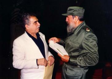 Garcia Marquez und Fidel Castro im Gespräch