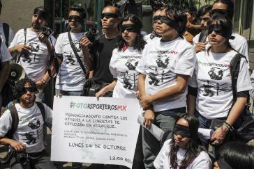 Protestaktion von Fotoreportern in Veracruz