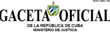 Titel des kubanischen Amtsblatts, der Gaceta de Cuba