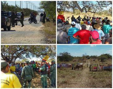 """Bilder vom ersten Tag der Besetzung des Anwesens """"Hato El Porvenir"""""""