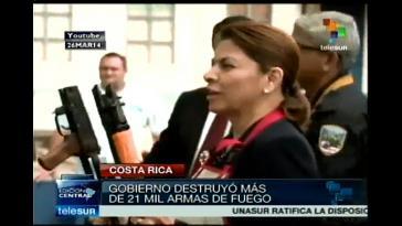 Die Vorgängerregierung Costa Ricas präsentierte erst Anfang des Jahres eine Bilanz ihres Programms zur Zerstörung beschlagnahmter illegaler Waffen