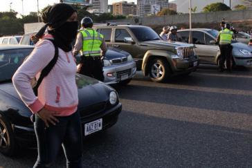 Demonstrantin in Caracas
