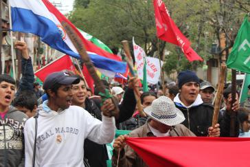 Bauern auf den Straßen von Asunción