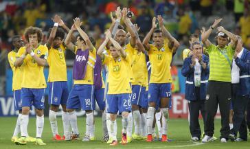 Trauriger Abschied:  die brasilianische Mannschaft nach der 7:1 Niederlage gegen die deutsche Elf am Dienstag