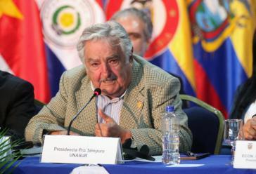 Uruguays Päsident José Mujica beim Unasur-Gipfel in Ecuador am 4. Dezember