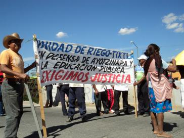 Solidaritätsaktion mit den verschwundenen Studenten in Mexiko