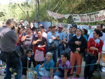 Mitglieder des Protestcamps