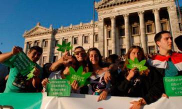 Marsch für Marihuana in Montevideo am 3. Mai