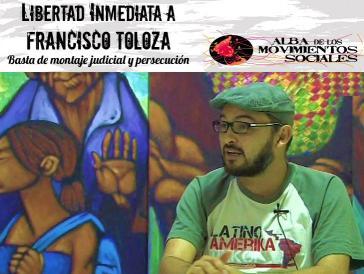 Verhaftetes Vorstandsmidglied der Marcha Patriotica, Francisco Toloza
