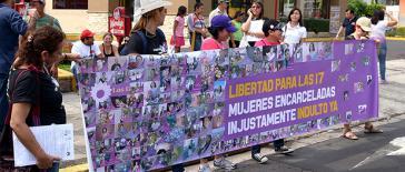 Kundgebung für die Freilassung der 17 inhaftierten Frauen