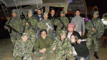 Erinnerungsphoto auf Facebook: Netzwerker Saleh während seinem Aufenthalt in Kolumbien