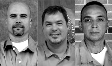 Die drei in den USA inhaftierten Kubaner Gerardo Hernández, Ramón Labañino, Antonio Guerrero