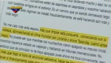 Auszug aus einer der angeblichen Mails von Machado