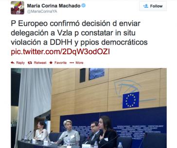 Machado verkündet Delegationsreise, die aber tatsächlich noch nicht beschlossen wurde