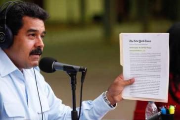 Präsident Maduro wendet sich in einem New York Times-Beitrag an die US-amerikanische Öffentlichkeit