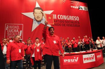 Venezuelas Präsident Nicolás Maduro wurde zum Vorsitzenden der Vereinten Sozialistischen Partei gewählt