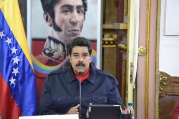 Präsident Nicolás Maduro bei seiner Fernsehansprache