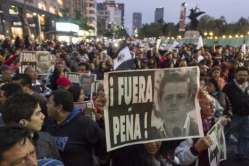 Die Forderungen nach einem Rücktritt des Präsidenten werden immer lauter, hier bei einer Demonstration in Mexiko-Stadt