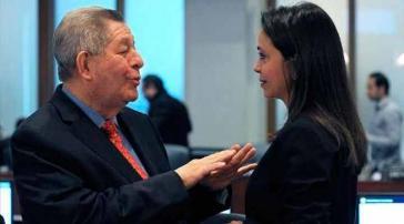María Corina Machado und Panamas OAS-Botschafter Arturo Vallarino