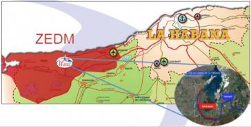 Lageplan des neuen Hafens von Mariel. Kuba hat einen neuen Trumpf zum Ausbau seiner Wirtschaftsbeziehungen