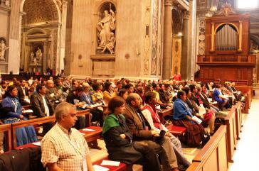 Rund 100 Vertreter sozialer Bewegungen aus aller Welt kamen auf Einladung des Papstes in den Vatikan
