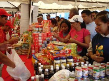 Subventionierter Supermarkt der Mercal-Kette in Venezuela