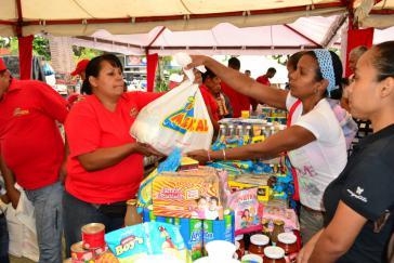 Ein staatlicher Lebensmittelmarkt (Mercal) in Caracas