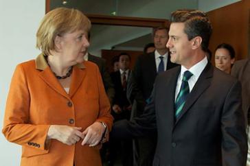 Bundeskanzlerin Angela Merkel und Mexikos Präsident Enrique Peña Nieto