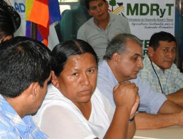 Boliviens Ministerin für ländliche Entwicklung und Land, Nemecia Achacollo