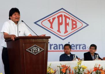 Präsident Morales in Santa Cruz am vergangenen Dienstag