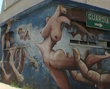 Argentinisches Wandgemälde thematisiert den Babyraub
