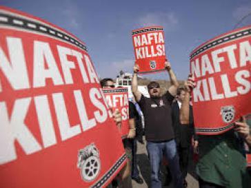 Demonstration gegen NAFTA in Mexiko