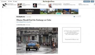 New York Times:  Präsident Obama sollte das Embargo gegen Kuba beenden