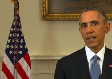 Barack Obama bei seiner Ansprache