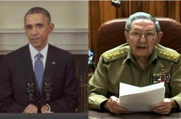 US-Präsident Barack Obama und Kubas Präsident Raúl Castro bei ihren Ansprachen