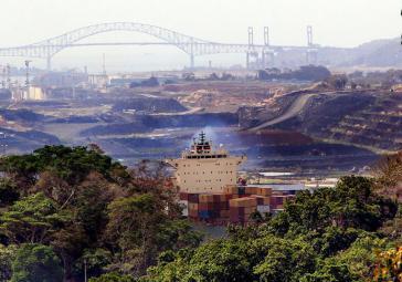 Der Streik der Bauarbeiter-Gewerkschaft Suntracs hat die Arbeiten an der Erweiterung des Panama-Kanals zum Erliegen gebracht