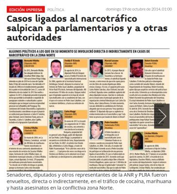 Titelseite der Website von Última Hora (Screenshot)