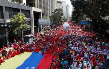 Großdemonstration von PDVSA-Arbeitern und linken Basisaktivisten am Dienstag in Caracas