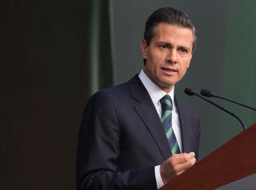 Präsident Peña Nieto bei seiner Rede an die Nation, bei der er das Reformpaket vorstellte