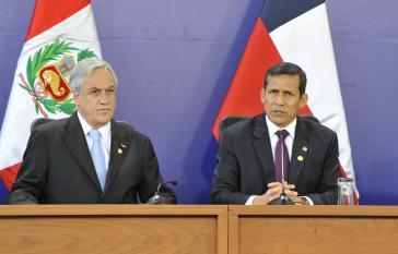 Die Präsidenten Chiles und Perus, Sebastián Piñera (links) und Ollanta Humala
