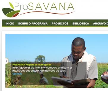 """Homepage von """"ProSavana"""""""